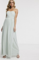 Ruched Sleeveless Chiffon Sweetheart And Sash Ethereal Bridesmaid Dress