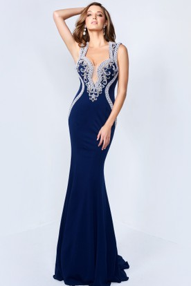 Midnight Color Prom Gowns Blue Formal Dresses Ucenter Dress