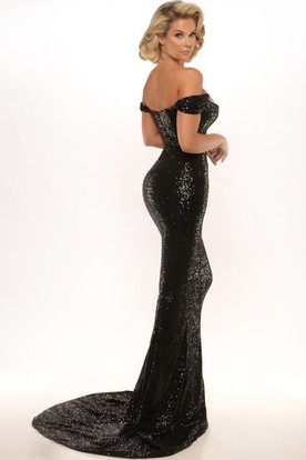 ... Sheath Appliqued Floor-Length Sleeveless High Neck Jersey Prom Dress  With Backless Style And Sweep 2248e6cad