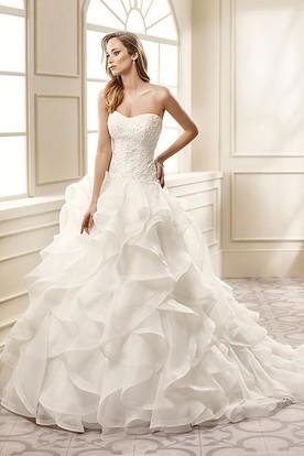 Organza Wedding Dresses | Ruffled Organza Wedding Dresses - UCenter ...