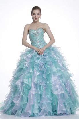 Princess Prom Dress Turquoise