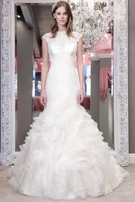Lace High Neck Wedding Dresses - UCenter Dress