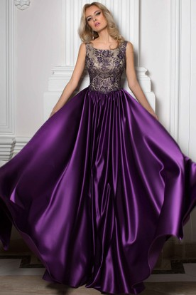 Purple Vintage Prom Dresses