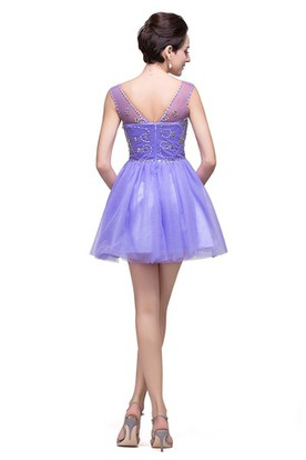 6ef93eeeabf Lovely Crystal Sleeveless Short Homecoming Dress Tulle Lovely Crystal  Sleeveless Short Homecoming Dress Tulle