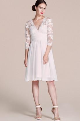 c06f5c8c2856 Casual Wedding Dresses | Short White Bride Dress for Beach - UCenter ...