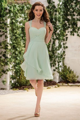 Knee Length Mint Dress