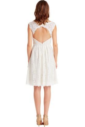 b469e4efdc ... A-Line Sleeveless Bateau Mini Lace Little White Dress With Keyhole Back