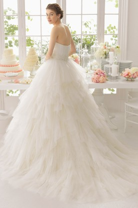 One Shoulder Wedding Dresses | Asymmetric Neckline Gowns - UCenter Dress