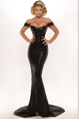 26786df0182 Sheath Appliqued Floor-Length Sleeveless High Neck Jersey Prom Dress With Backless  Style And Sweep ...