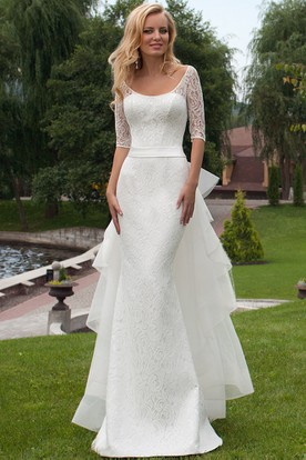 Mature wedding dresses with sleeves