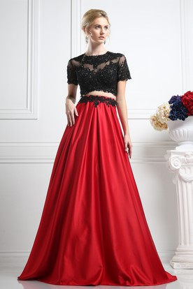 2 Piece Prom Dress Two Piece Formal Gowns Ucenter Dress