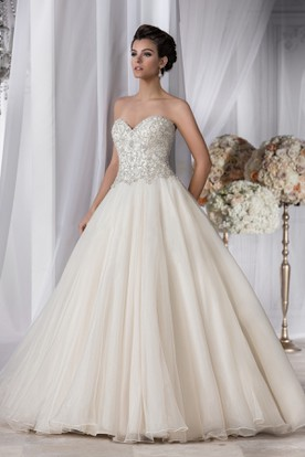 Noble Sweetheart A Line Gown With Beaded Bodice ...