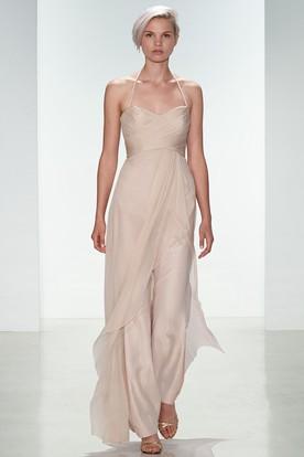 Tan Ankle Length Dress