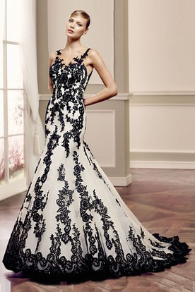 Black Lace Wedding Dress