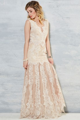 Bohemian bridals dresses cheap affordable bohemian style wedding sheath sleeveless v neck long lace wedding dress with appliques and v back junglespirit Image collections