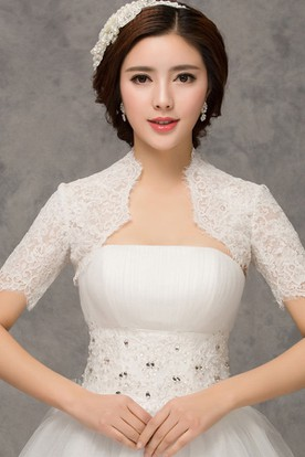 d52c0a3e388a7 New Western Style Fashion Short-sleeved Lace White Vest ...