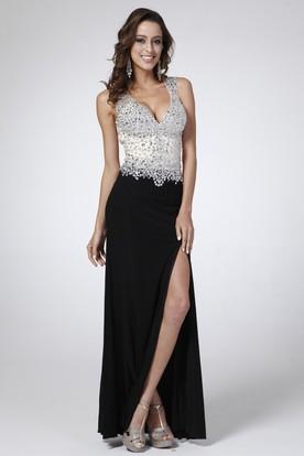 Black And White Prom Dresses | White And Black Formal Dresses ...