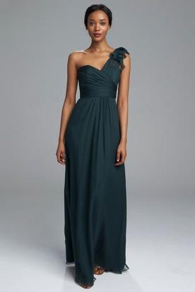 One.strap Emerald Bridesmaid Dresses