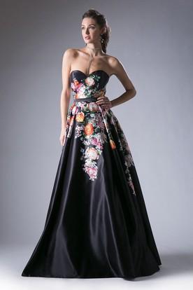 Black Strapless Prom