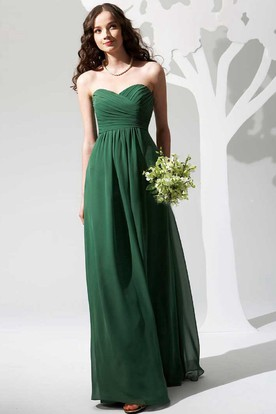 Simple Sweetheart A Line Chiffon Bridesmaid Dress With Ruching ...