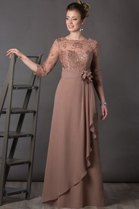 Plus Size Formal Dresses with Draped Sleeves