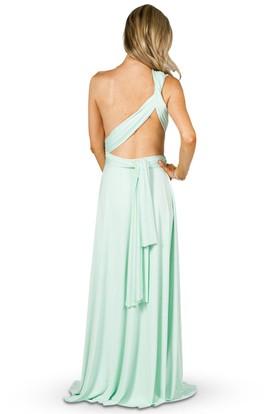 b52d3581648 Strapped Sleeveless Ruched Chiffon Convertible Bridesmaid Dress Strapped  Sleeveless Ruched Chiffon Convertible Bridesmaid Dress