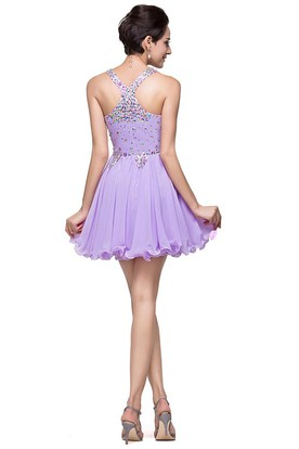 c365a8905c3 ... Gorgeous Halter Sleeveless Homecoming Dress 2018 Short Tulle With  Crystals