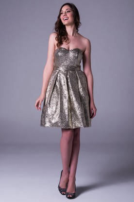 Black and Gold Mini Prom Dresses