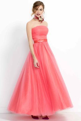 Coral Colored Bridesmaid Dresses
