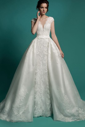 Detachable Wedding Gowns Bridal Dresses With Detachable Skirt