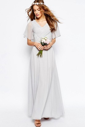 Rustic Western Long Sleeve Bridesmaids Dresses