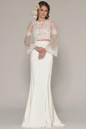 Cream Lace Wedding Dresses - UCenter Dress