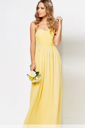 Sheath Sweetheart Ankle Length Chiffon Bridesmaid Dress With Criss Cross And Zipper