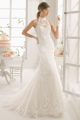 High Neck Wedding Dresses | High Neck Wedding Gowns - UCenter Dress
