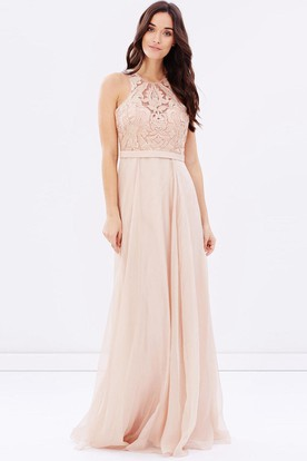 Rose gold bridesmaid dresses rose gold bridesmaid gowns ucenter sheath sleeveless appliqued scoop neck chiffon bridesmaid dress with sequins junglespirit Image collections