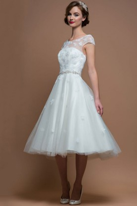 Knee Length Wedding Dresses Short Wedding Dresses UCenter Dress - Mid Length Wedding Dresses