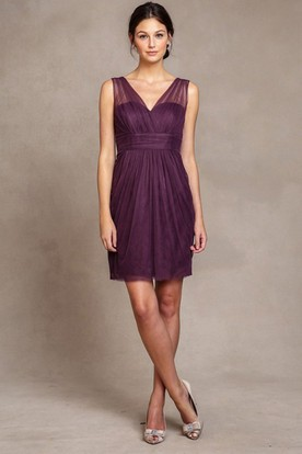 Aubergine Cocktail Dress Ombre