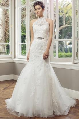 Lace Top Wedding Dresses - UCenter Dress