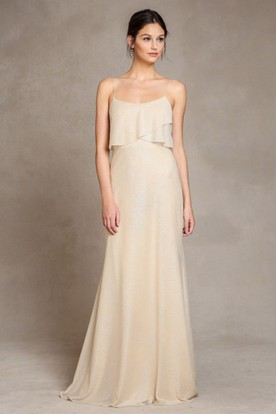 Floor-Length Spaghetti Chiffon Bridesmaid Dress With V Back ... cbeba272e01d
