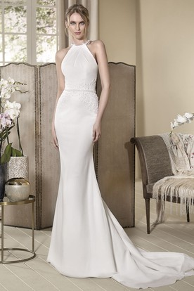 Lace High Neck Wedding Dresses - UCenter Dress