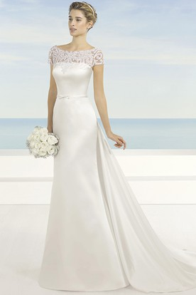 Wedding Dress For 50 Age Women, Over Fifty Years Old Bridals Dresses ...
