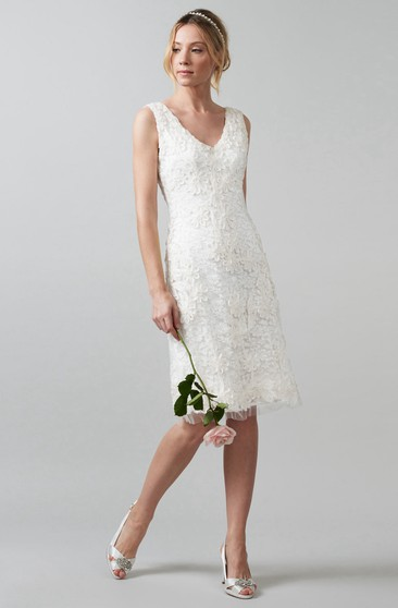Casual Wedding Dresses Short White Bride Dress For Beach