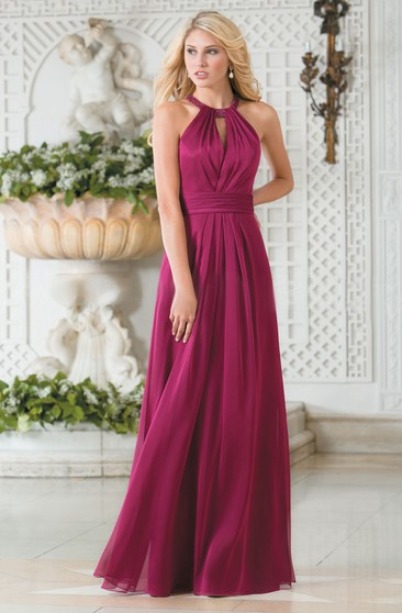 Magenta Color Bridesmaid Gowns Dresses For