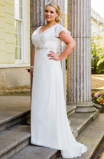 Informal Plus Size Wedding Dresses | Casual Plus Size ...