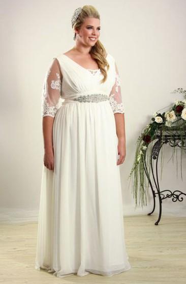 Informal Plus Size Wedding Dresses | Casual Plus Size ...