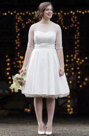 Plus Size Tea Length Wedding Dresses | Short Wedding Dresses ...