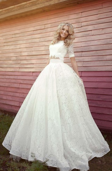 Crop Top Wedding Dresses Two Piece Wedding Dresses Ucenter Dress