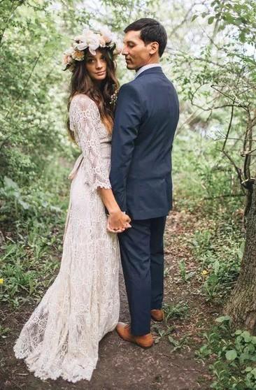 Plus Size Boho Wedding Dresses, Full Figure Boho Wedding Gowns ...