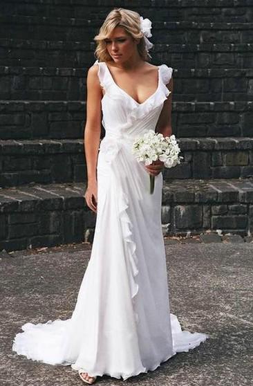 Summer Wedding Dresses with Sash