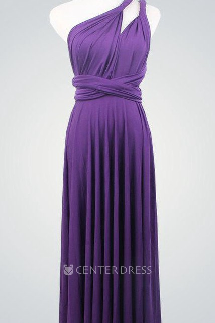 b070004f13af Dark Purple Bridesmaid Multiway Infinity Party Convertible Wrap Purple Knee  Length Dress - UCenter Dress